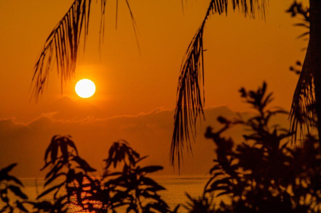 Sunrise in front of Villa Sinar Cinta