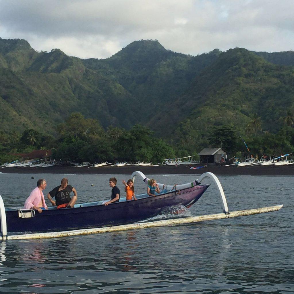 Family Boat trip East-Bali from Villa Sinar Cinta