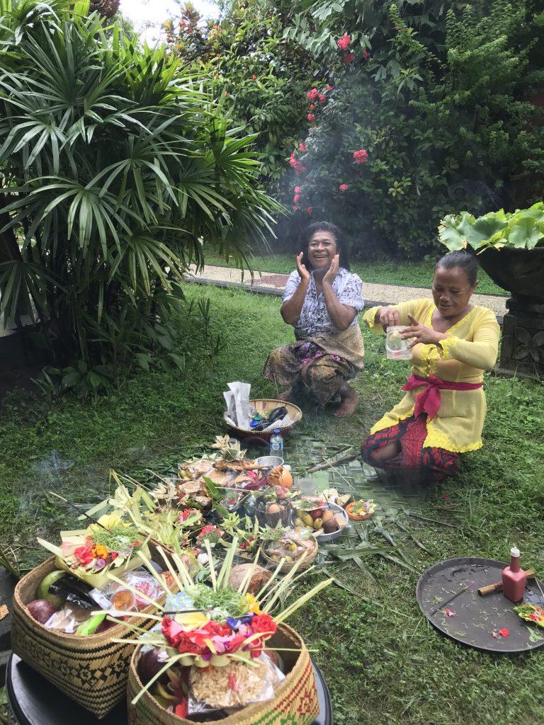 Bali ceremony at Sinar Cinta