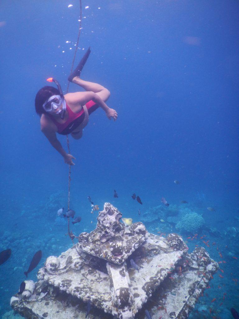 Mary Afdan snorkelling