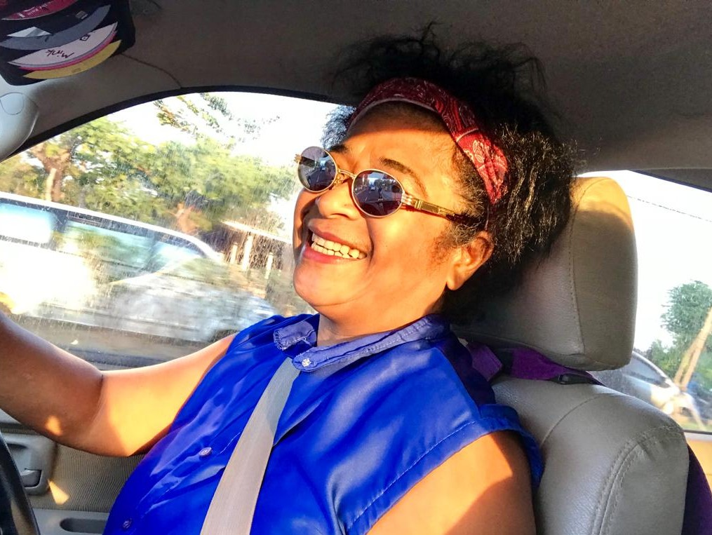 Mary Afdan driving exploring East-Bali
