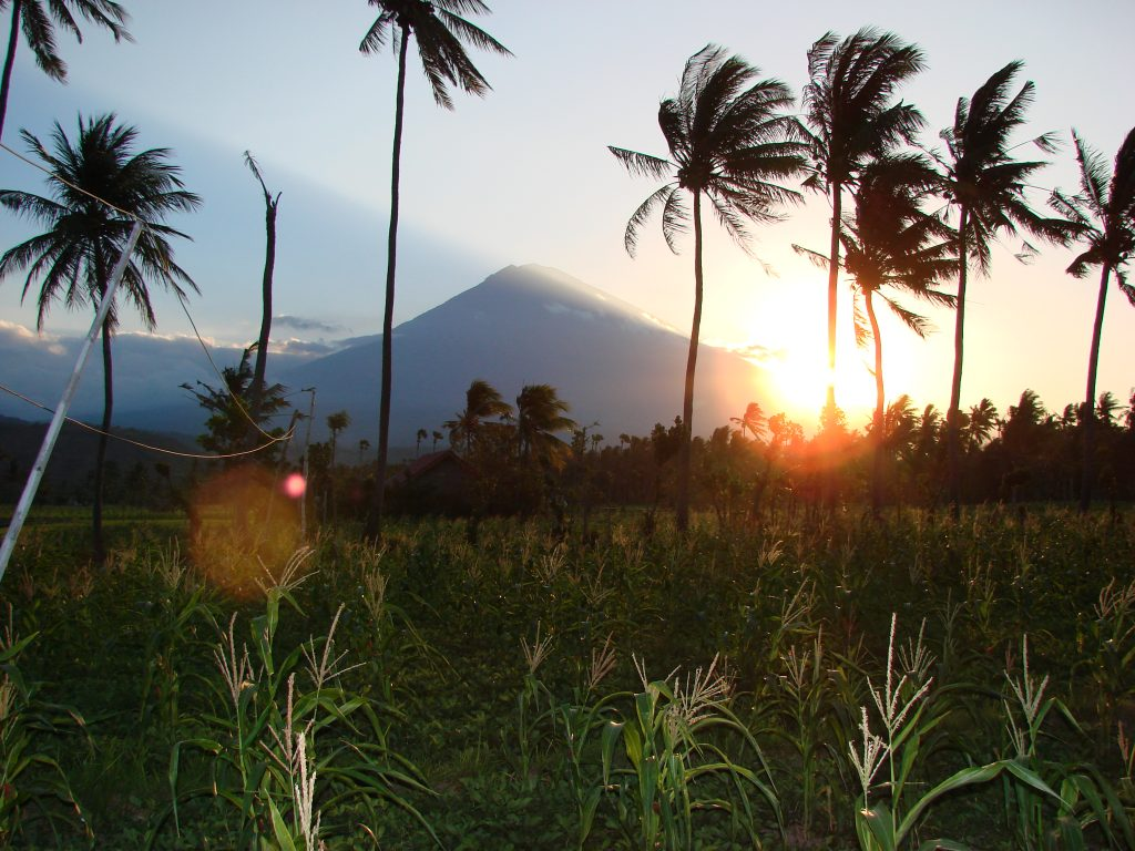 Sunset Mount Agung Amed East-Bali