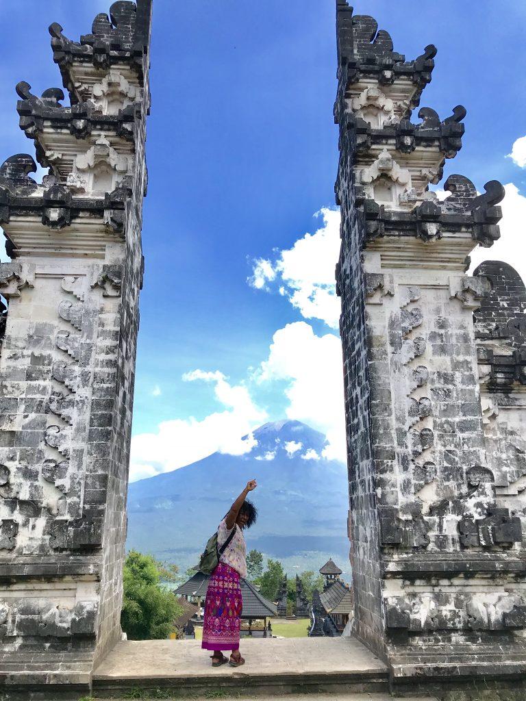 Mary Afdan at Heavens Gate Lempuyang temple East-Bali