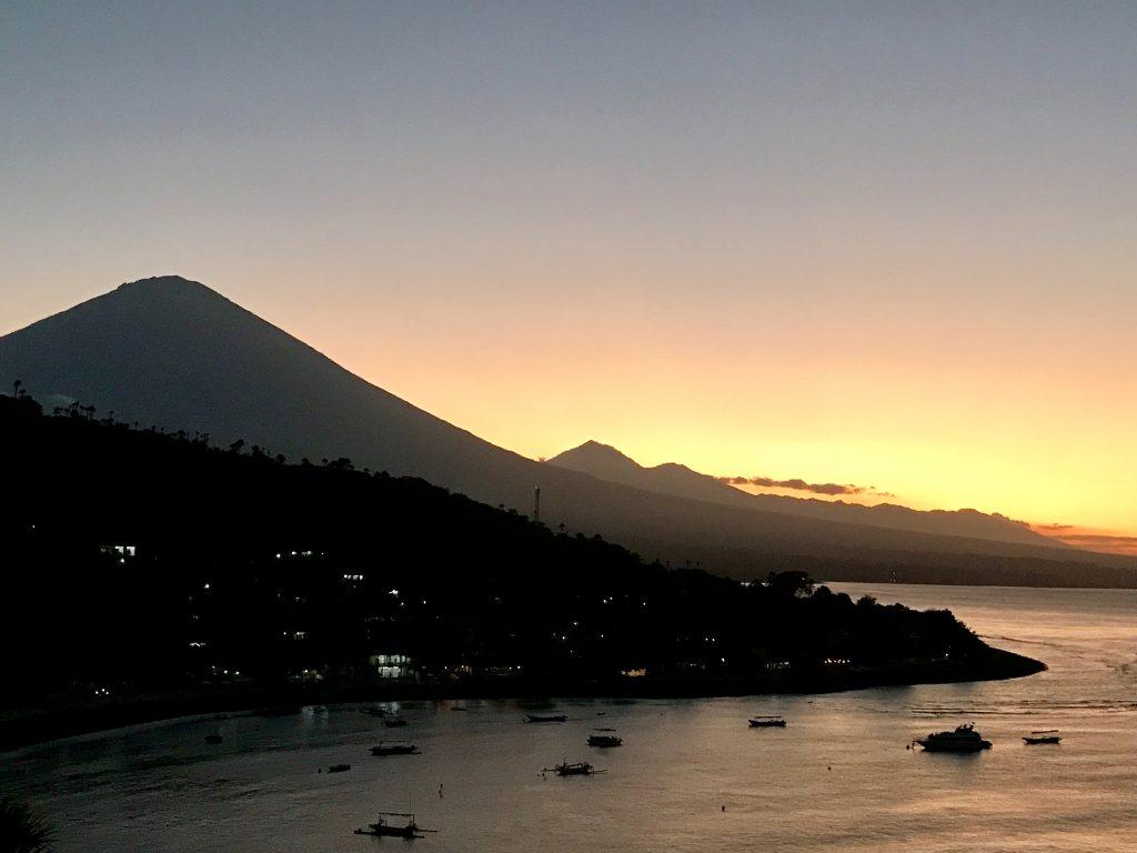 Sunset Mount Agung Jemelukbay East-Bali