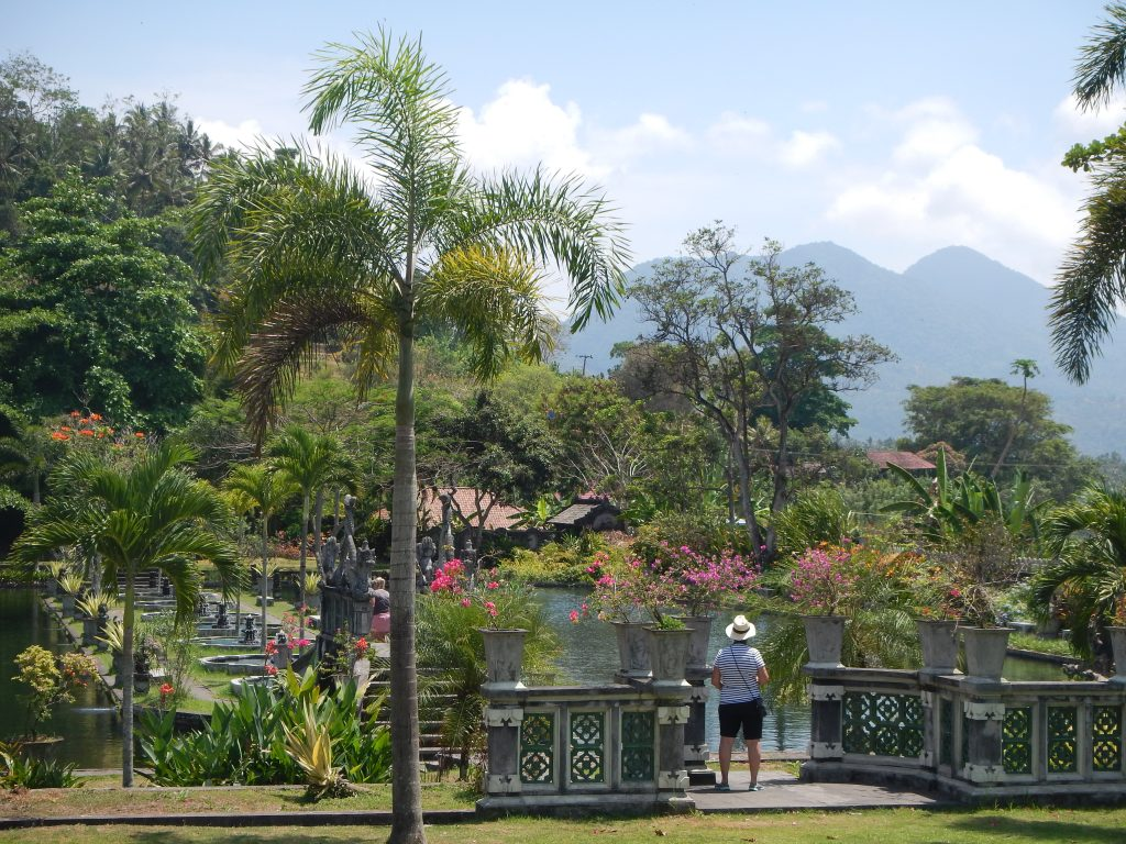 View on waterpalace Tirtagangga East-Bali