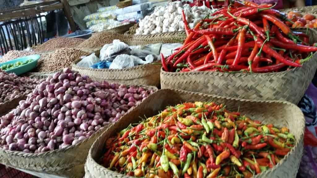 Spices at Amlapura market East-Bali
